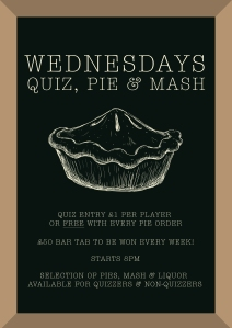 Pie & Mash Quiz