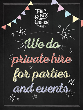 Private hire for your party, celebration or event